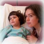 Een dagje met Victoria in het ziekenhuis om de neuspoliepen te verwijderen