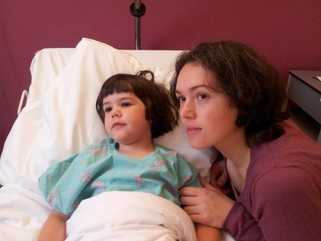 Voor de operatie - samen naar tekenfilms kijken