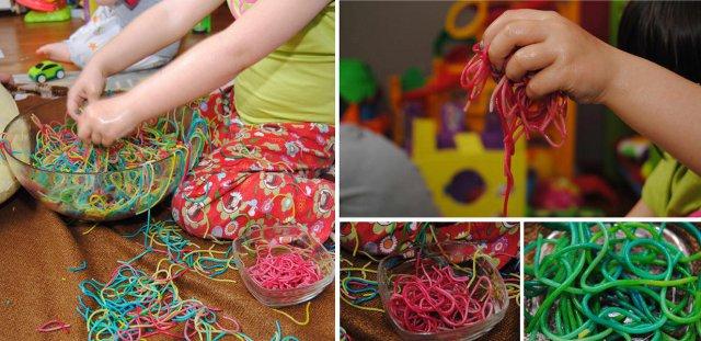 Spaghetti sorteren per kleur