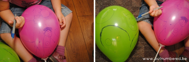 Creatief tekenen op ballonnen