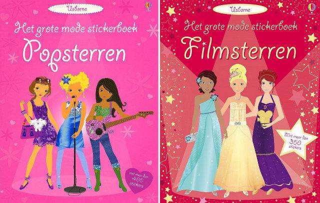 usborne meisjes sticker boek filmsterren and popsterren