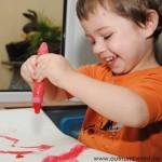 Proper schilderen met kinderen, het kan met de squeeze 'n brush!