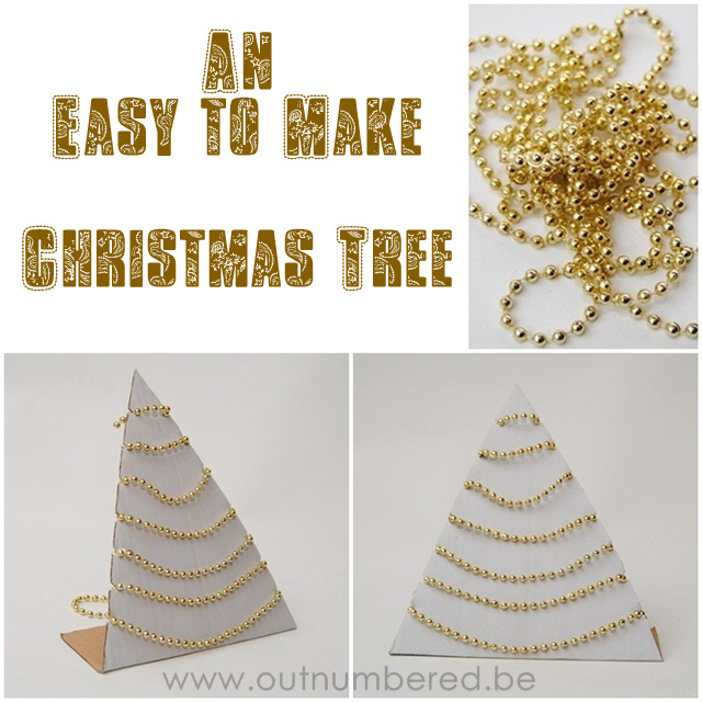 cardboard christmas tree craft project