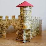 Een eenvoudig kasteel knutselen met kleuters