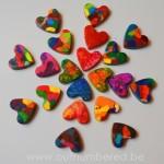 Creatief met kinderen - Zelf waskrijt maken in verschillende kleuren en vormen