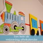 Maak zelf een leuke trein verjaardag aftelkalender